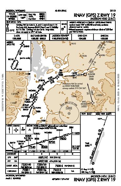 Jackson Hole Jackson, WY (KJAC): RNAV (GPS) Z RWY 19 (IAP)