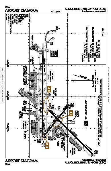 Albuquerque Intl Sunport Airport (Albuquerque, NM): KABQ Airport Diagram
