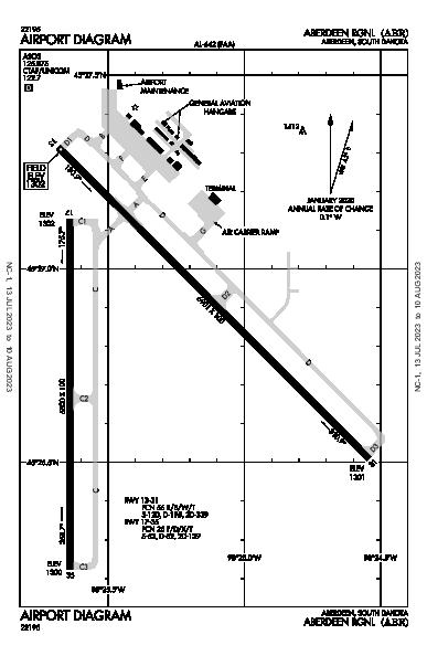 Aberdeen Rgnl Airport (Aberdeen, SD): KABR Airport Diagram