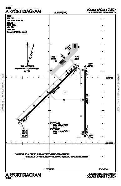Double Eagle Ii Airport (Albuquerque, NM): KAEG Airport Diagram