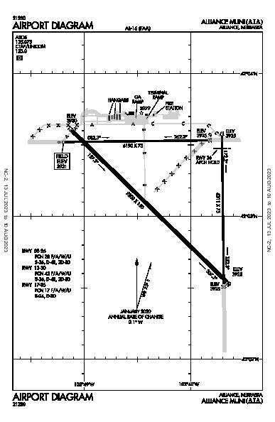 Alliance Muni Airport (Alliance, NE): KAIA Airport Diagram