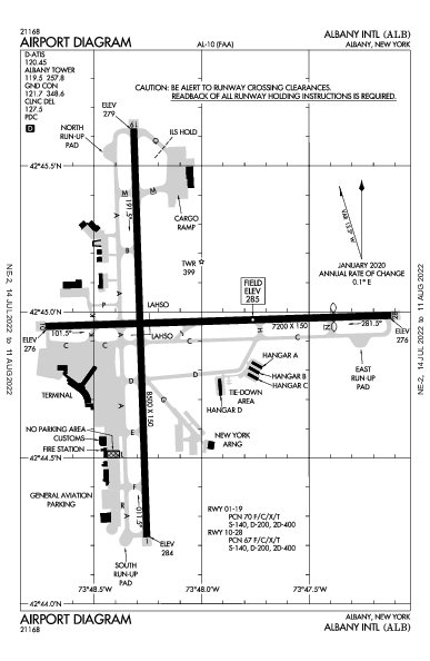 Albany Intl Airport (Albany, NY): KALB Airport Diagram