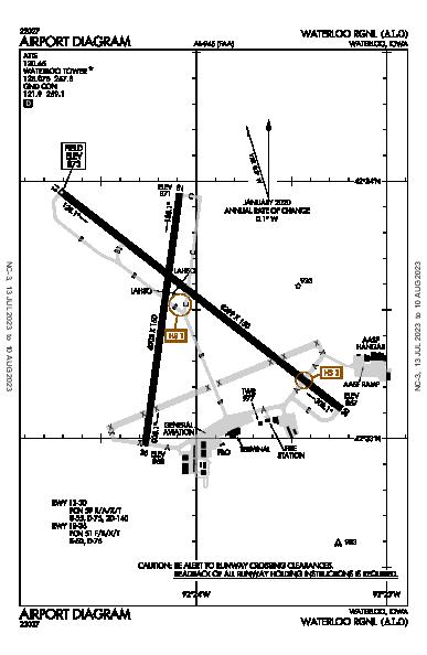 Waterloo Rgnl Airport (Waterloo, IA): KALO Airport Diagram