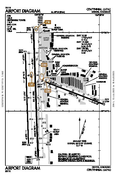 Centennial Airport (Denver, CO): KAPA Airport Diagram