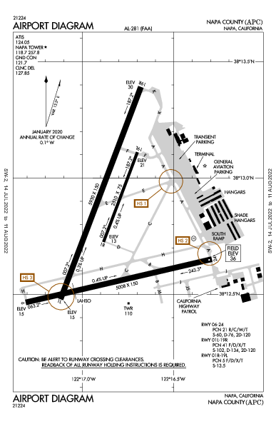 Napa County Airport (Napa, CA): KAPC Airport Diagram