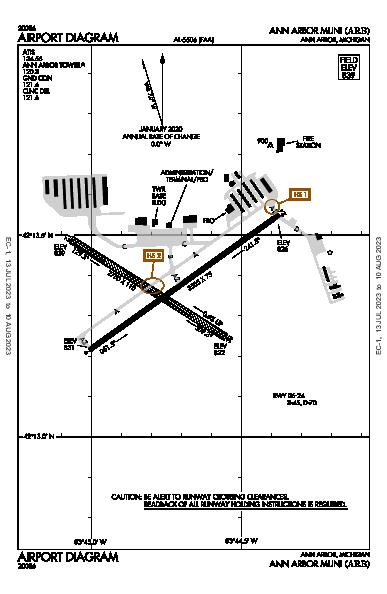 Ann Arbor Muni Airport (Ann Arbor, MI): KARB Airport Diagram
