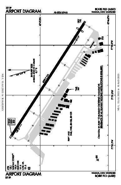 Boire Field Airport (Nashua, NH): KASH Airport Diagram