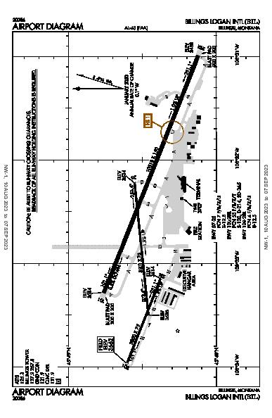 Billings Logan Intl Airport (Billings, MT): KBIL Airport Diagram