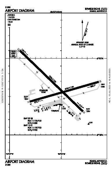 Bemidji Rgnl Airport (Bemidji, MN): KBJI Airport Diagram