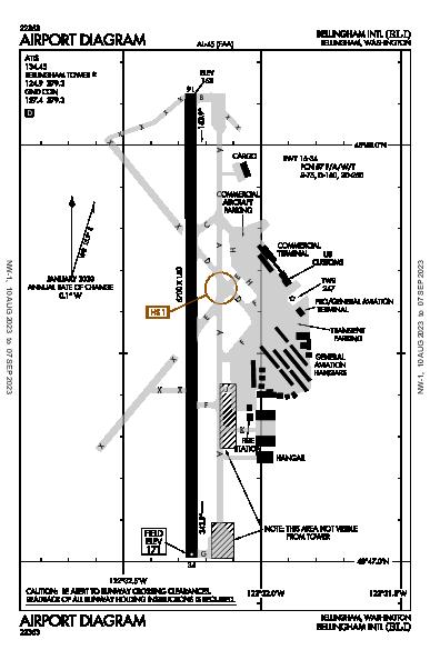 Bellingham Intl Airport (Bellingham, WA): KBLI Airport Diagram