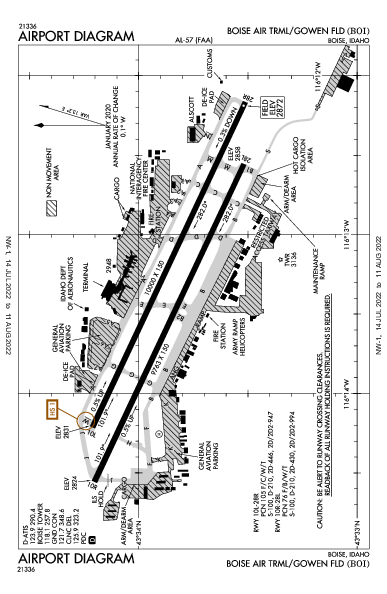 Gowen Field Airport (Boise, ID): KBOI Airport Diagram