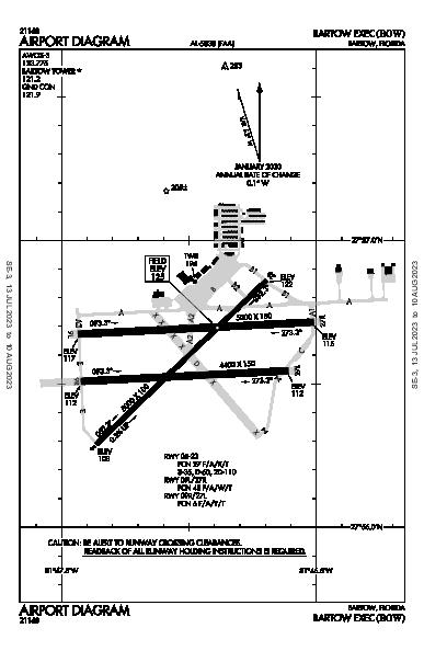 Bartow Muni Airport (Bartow, FL): KBOW Airport Diagram