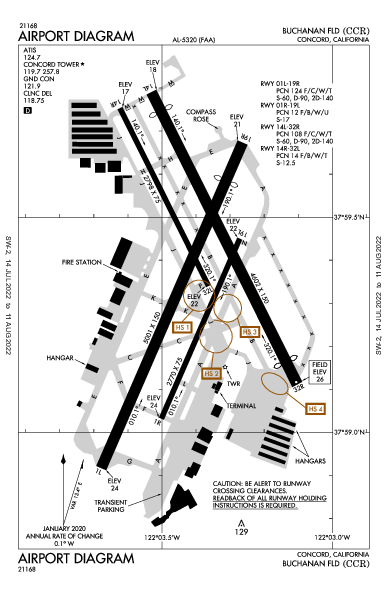 Buchanan Field Airport (Concord, CA): KCCR Airport Diagram