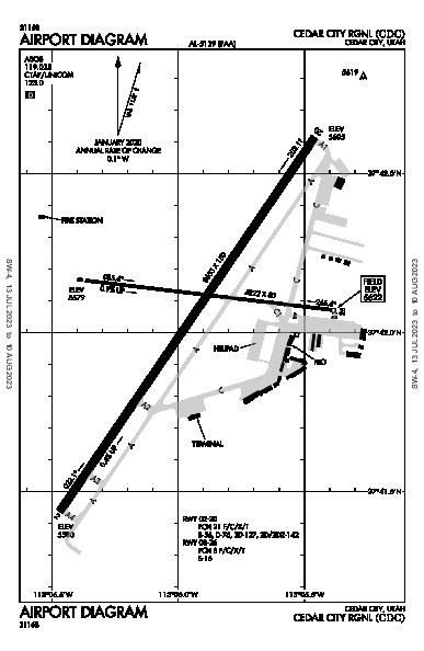 Cedar City Rgnl Airport (Cedar City, UT): KCDC Airport Diagram