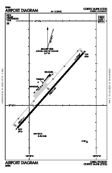 Cortez Muni Airport (Cortez, CO): KCEZ Airport Diagram