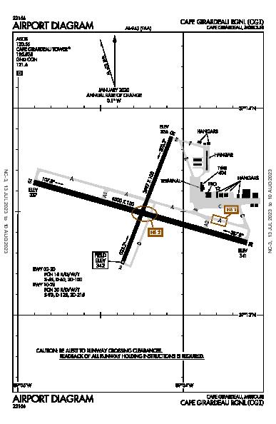 Cape Girardeau Rgnl Airport (Cape Girardeau, MO): KCGI Airport Diagram