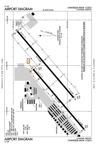 Chandler Muni Airport (Chandler, AZ): KCHD Airport Diagram