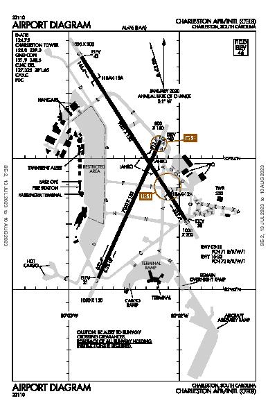 Charleston Afb/Intl Airport (Charleston, SC): KCHS Airport Diagram