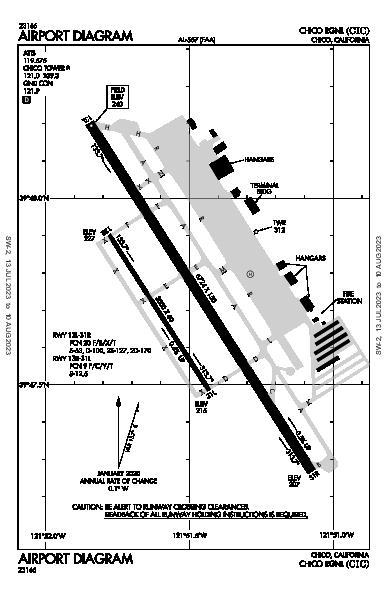 Chico Muni Airport (Chico, CA): KCIC Airport Diagram