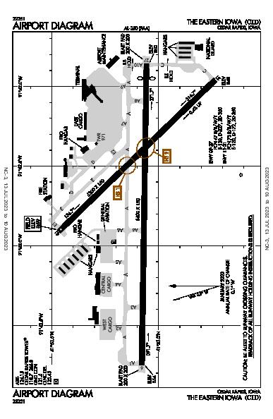 The Eastern Iowa Airport (Cedar Rapids, IA): KCID Airport Diagram