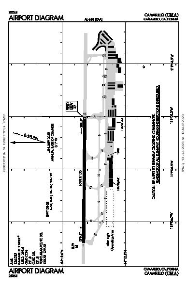 Camarillo Airport (Camarillo, CA): KCMA Airport Diagram
