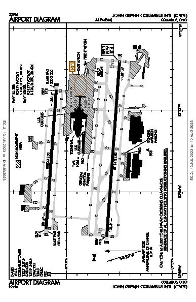 John Glenn Columbus Intl Airport Airport (Columbus, OH): KCMH Airport Diagram