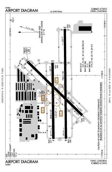 Chino Airport (Chino, CA): KCNO Airport Diagram