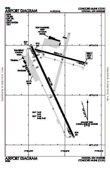 Concord Muni Airport (Concord, NH): KCON Airport Diagram