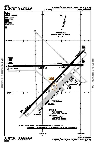 Casper/Natrona County Intl Airport (Casper, WY): KCPR Airport Diagram