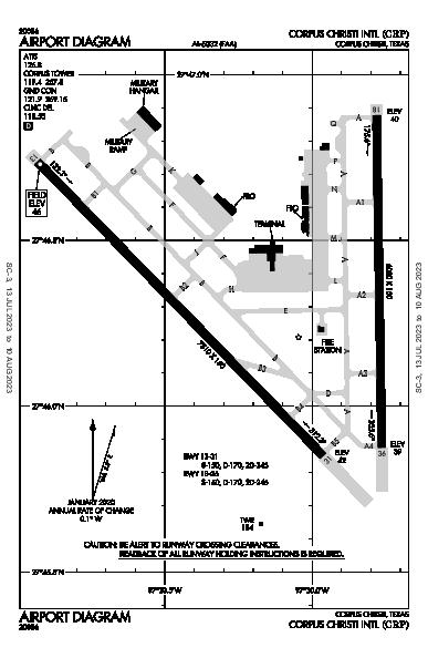 Corpus Christi Intl Airport (Corpus Christi, TX): KCRP Airport Diagram
