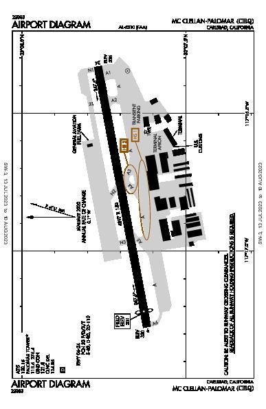 Mc Clellan-Palomar Airport (Carlsbad, CA): KCRQ Airport Diagram
