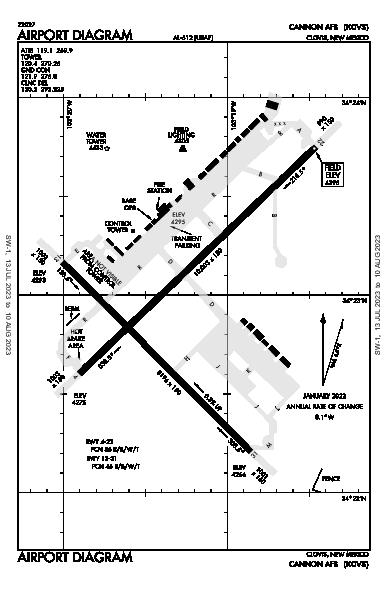 Cannon Afb Airport (Clovis, NM): KCVS Airport Diagram