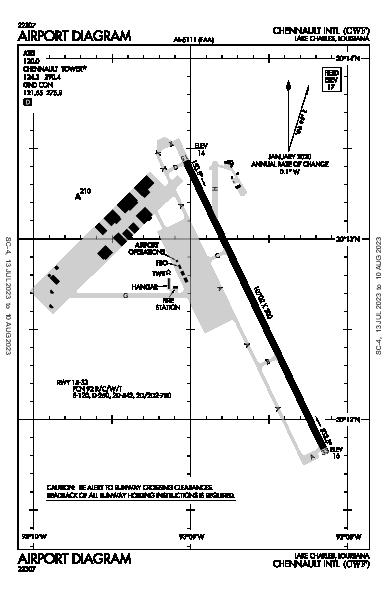 Chennault Intl Airport (Lake Charles, LA): KCWF Airport Diagram