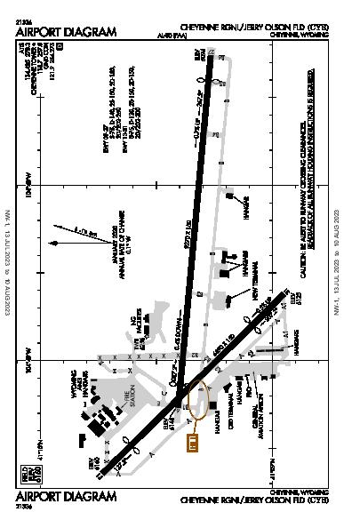 Cheyenne Rgnl Airport (Cheyenne, WY): KCYS Airport Diagram