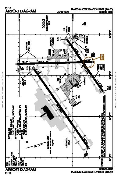 James M Cox Dayton Intl Airport (Dayton, OH): KDAY Airport Diagram