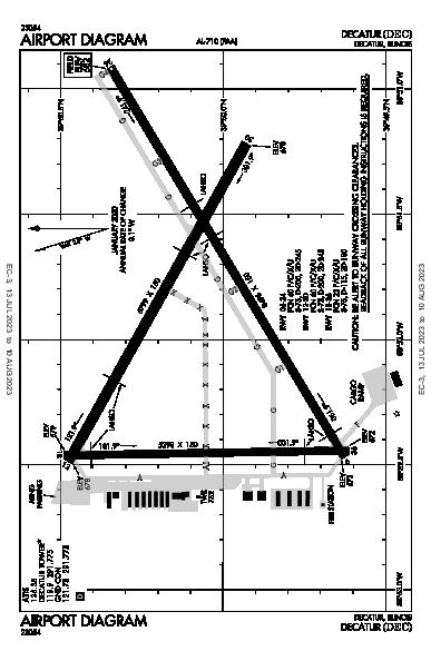 Decatur Airport (Decatur, IL): KDEC Airport Diagram
