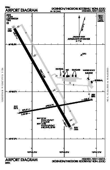 Roosevelt Rgnl Airport (Dickinson, ND): KDIK Airport Diagram