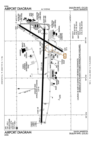 Duluth Intl Airport (Duluth, MN): KDLH Airport Diagram