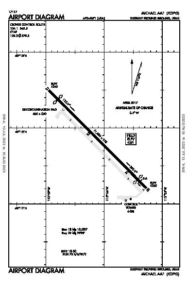Michael Aaf Airport (Dugway Proving Ground, UT): KDPG Airport Diagram