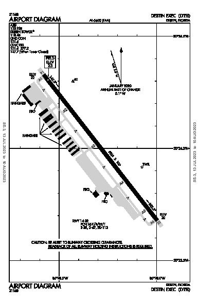 Destin Exec Airport (Destin, FL): KDTS Airport Diagram