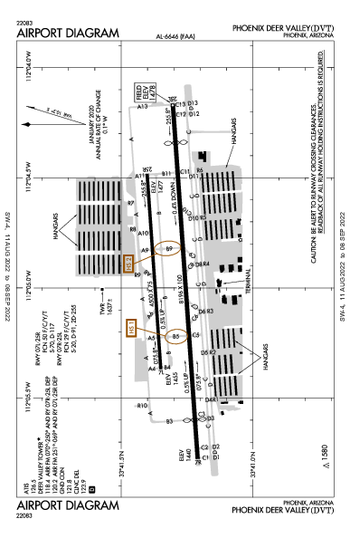 Phoenix Deer Valley Airport (Phoenix, AZ): KDVT Airport Diagram