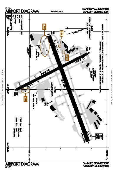 Danbury Muni Airport (Danbury, CT): KDXR Airport Diagram