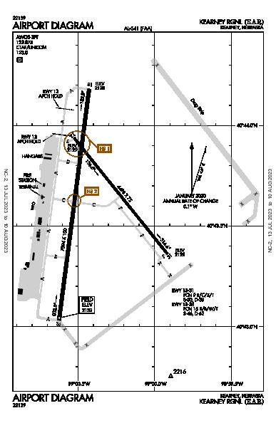 Kearney Rgnl Airport (Kearney, NE): KEAR Airport Diagram