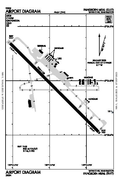 Pangborn Memorial Airport (Wenatchee, WA): KEAT Airport Diagram