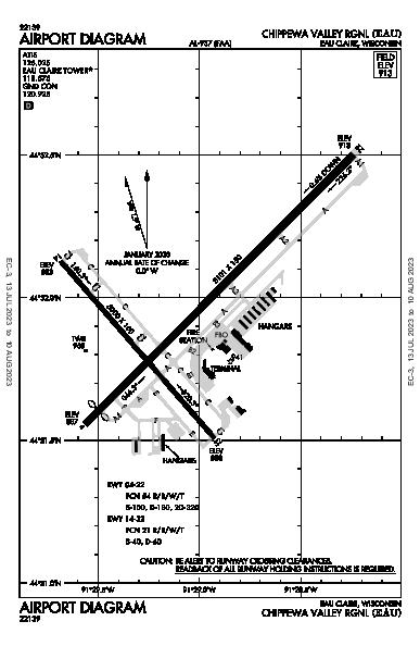Chippewa Valley Rgnl Airport (Eau Claire, WI): KEAU Airport Diagram