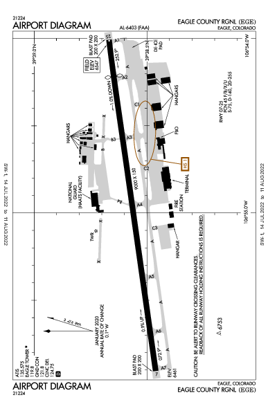 Eagle County Airport (Eagle, CO): KEGE Airport Diagram