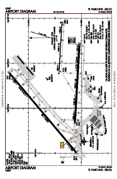El Paso Intl Airport (El Paso, TX): KELP Airport Diagram
