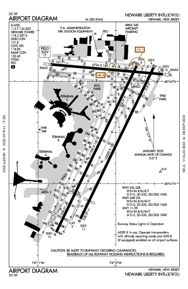 Newark Liberty Intl Airport (Newark, NJ): KEWR Airport Diagram