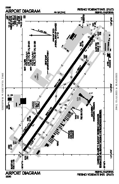 Fresno Yosemite Intl Airport (Fresno, CA): KFAT Airport Diagram