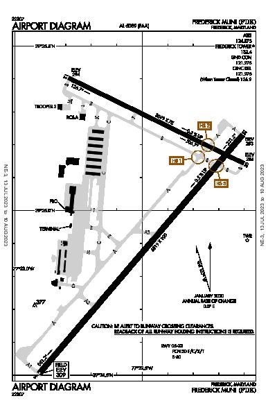 Frederick Muni Airport (フレデリック, メリーランド州): KFDK Airport Diagram